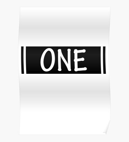 Band One Black Poster