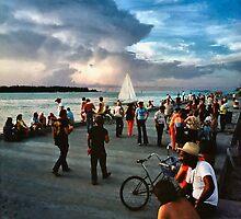 Key West Sunset Gathering by Jay Gross