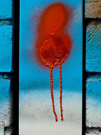Urban abstract-Red Dribble by Albert Sulzer