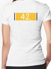 BaseBall 42 Women's Fitted V-Neck T-Shirt