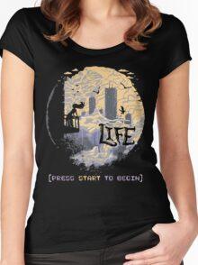 Press Start Women's Fitted Scoop T-Shirt