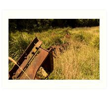 History that lies in the fields. Art Print