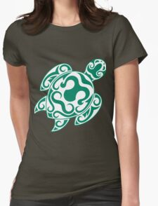 Tribal color turtle Womens Fitted T-Shirt