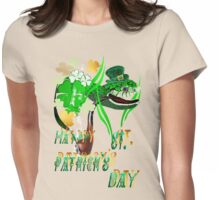 Irish Snake and Well Wishes Womens Fitted T-Shirt