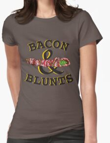 Bacon & Blunts  Womens Fitted T-Shirt