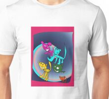 Rainbow Mouse Family Unisex T-Shirt