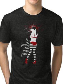 DEADBUNNEH - nym·pho·ma·ni·ac - Sasha (Black) Tri-blend T-Shirt