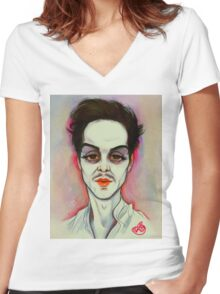 Andrew Scott: Mwah Women's Fitted V-Neck T-Shirt
