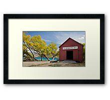 Little red hut... Framed Print