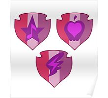My little Pony - Crusaders Cutie Mark White Poster