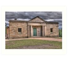 Courthouse, Little Hartley, NSW, Australia Art Print