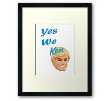 Yes We Ken Framed Print