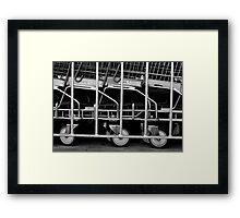 Trolley corral. Framed Print