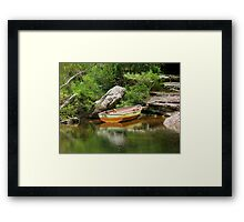 So I Leave My Boat Behind..... Framed Print