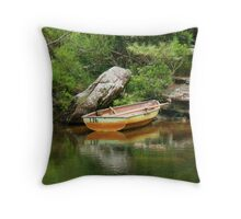 So I Leave My Boat Behind..... Throw Pillow