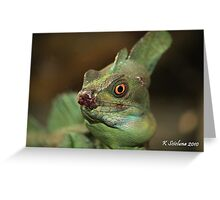 who said nature was always beautiful? Greeting Card