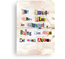 The note Canvas Print