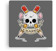 Crabro Skull Canvas Print
