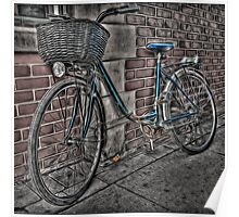 Bike with Basket. Poster