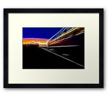 Evening Train Framed Print