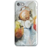 Two apples, one egg and onion - Cooking quartet iPhone Case/Skin