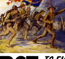 US Marines -- First To Fight In France For Freedom Sticker