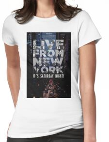 Live From New York, Saturday Night Live Womens Fitted T-Shirt