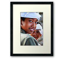 boy at puri agung ceremony Framed Print