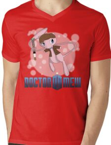 Doctor Mew Mens V-Neck T-Shirt