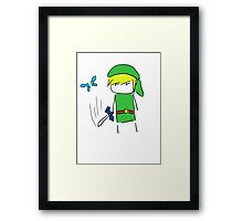 Hey! Lis- *slice* Framed Print