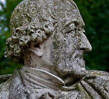 Middleheim Sculpture Park, Antwerp, Belgium - Stone bust of a man by Michael Brewer