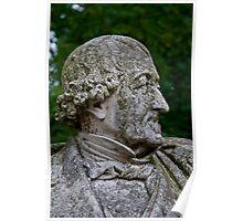 Middleheim Sculpture Park, Antwerp, Belgium - Stone bust of a man Poster
