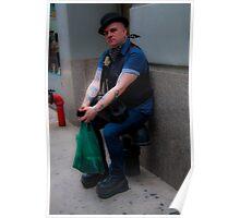 New Yorker wearing a bowler Poster