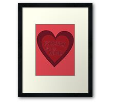 Forever Be Mine Framed Print