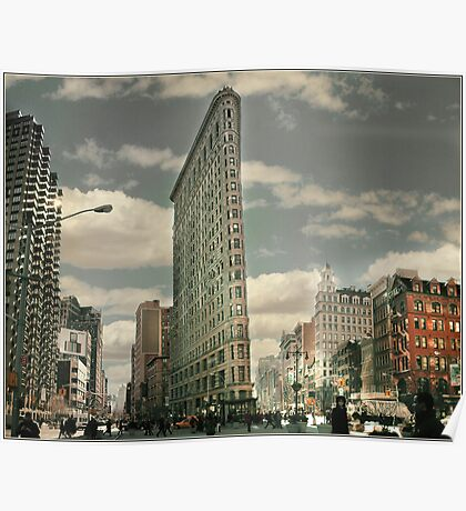 New York The Flatiron Building Poster
