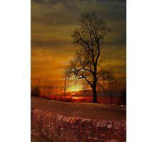 Sunset in Downham . Photographic Print