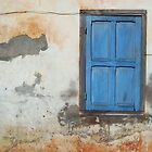 Blue door and crumbling wall, Savannaket by EricKuns
