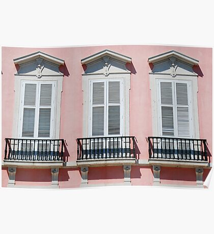 Lisbon windows Poster