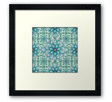 Embroidered blue & green Framed Print
