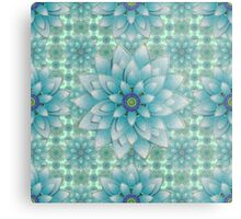 Embroidered blue & green Metal Print
