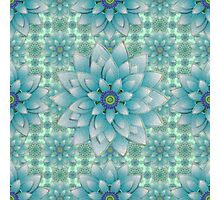 Embroidered blue&green Photographic Print