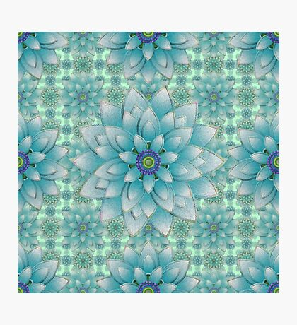 Embroidered blue & green Photographic Print