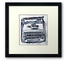 loveable typewriter Framed Print