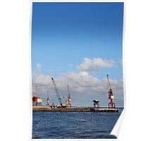 Shipyard in Lisbon Poster