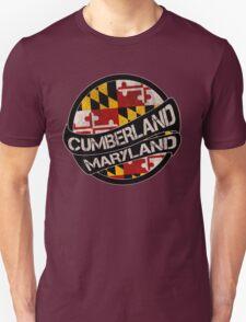 Cumberland Maryland grunge scroll circle Unisex T-Shirt