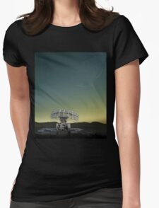 Swirling Stars Womens Fitted T-Shirt