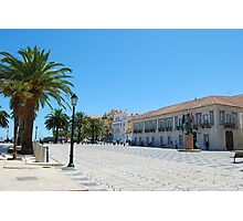Famous square in Cascais Photographic Print