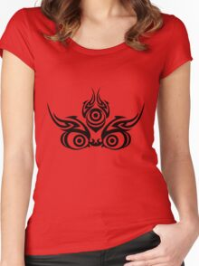 Mahakala (clear colors) Women's Fitted Scoop T-Shirt
