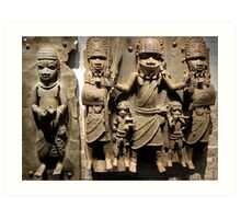 The Art of Benin, mshed, Bristol, UK Art Print