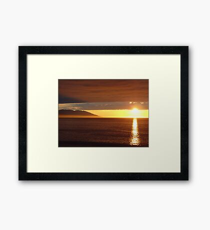 Sun Coming out of the Clouds - Sol saliendo de Nubes Framed Print